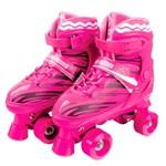 Roller Skate Patins Ajustável - Rosa
