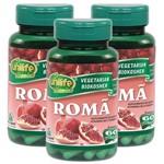 Romã 60 Cápsulas de 500mg Kit com 3 Frascos
