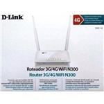 Roteador D-link Dwr-116 3g 4g + Modem 3g Wi-fi Desbloqueado - Branco