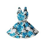 Roupa Barbie Fab Look Fashion Azul Estampado Cfx65 - Mattel