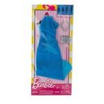 Roupa Barbie FAB Look Fashion Vestido Azul FCT22 - Mattel