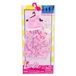 Roupa Barbie FAB Look Fashion Vestido Rosa Brilhos FCT22 - Mattel