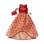 Roupa Barbie FAB Look Fashion Vestido Vermelho Corações FCT22 - Mattel