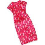 Roupa Barbie Fab Vestido Rosa Estampas Cmr78 - Mattel