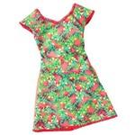 Roupa Barbie Fab Vestido Verde Estampa Cmr78 - Mattel