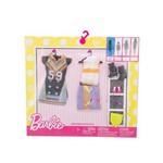 Roupa Barbie Vestido 59 e Conjunto Colorido - Mattel