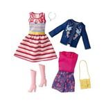 Roupa Barbie Vestido e Conjunto Jeans - Mattel