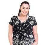 Roupa Feminina Plus Size Blusa Bata com Amarração Frontal