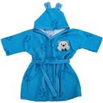 Roupão Baby Joy Funny Ursinho Azul