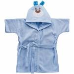 Roupão Bordado com Capuz Baby Joy Carinhas Ursinho Azul