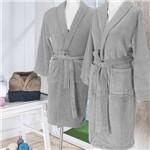 Roupão de Banho em Microfibra Fleece Tamanho M - Andreza