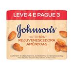 Sabonete Johnson&Johnson Nutri Spa Rejuvenescedora Amendoas 80g Leve 4 Pague 3