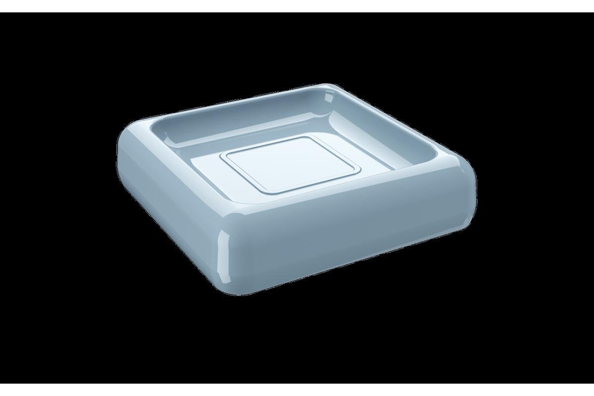Saboneteira Cube - AZF 10 X 10 X 2,5 Cm Azul Fog Coza