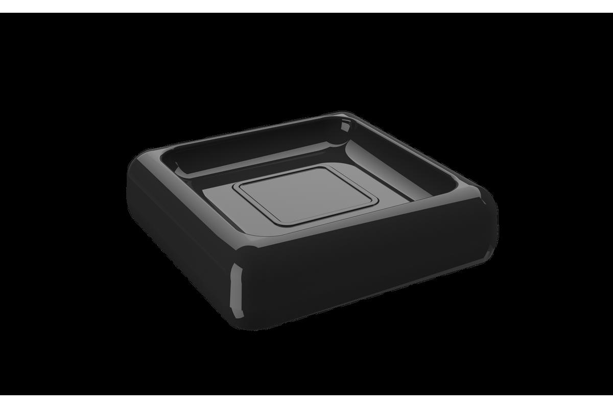 Saboneteira Cube - PT 10 X 10 X 2,5 Cm Preto Coza