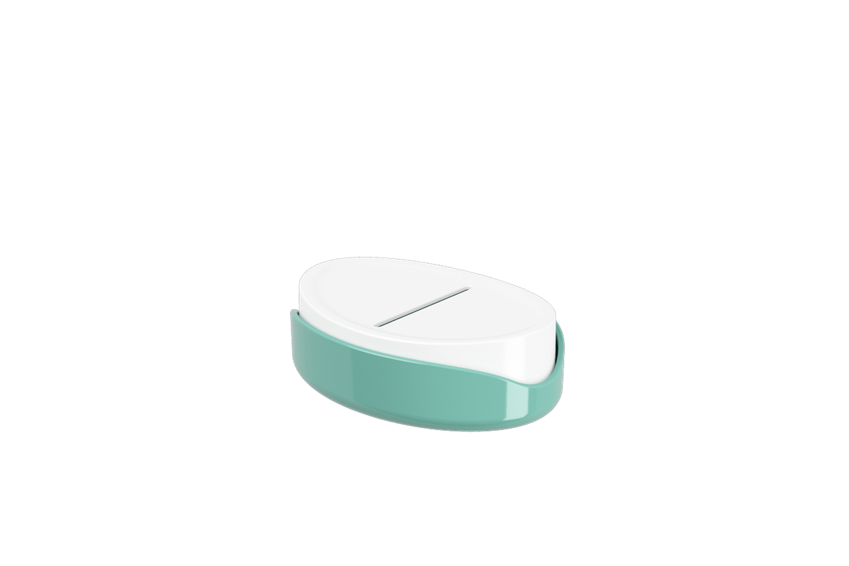 Saboneteira Full - VDE 12,1 X 8,65 X 3,7 Cm Verde Elétrico Coza
