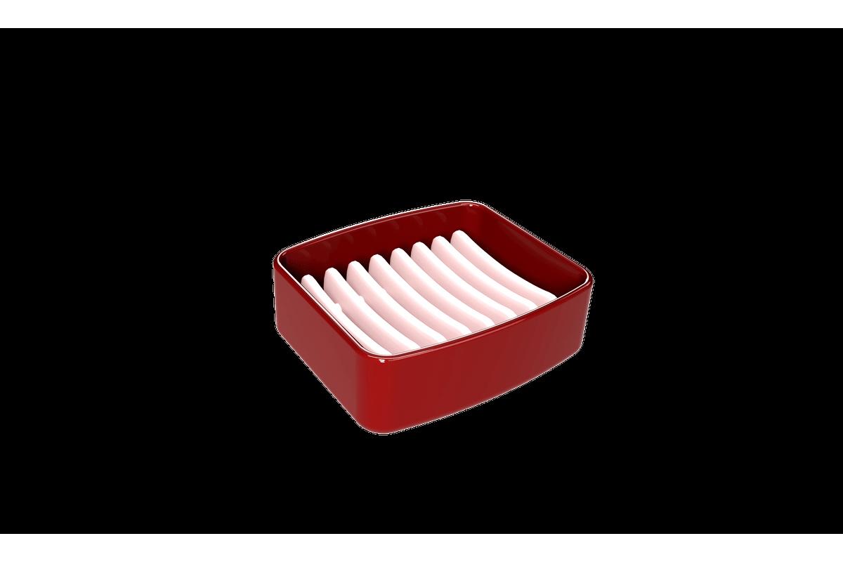 Saboneteira Splash - VBO 6,5 X 6,5 X 19,2 Cm 290 Ml Vermelho Bold Coza