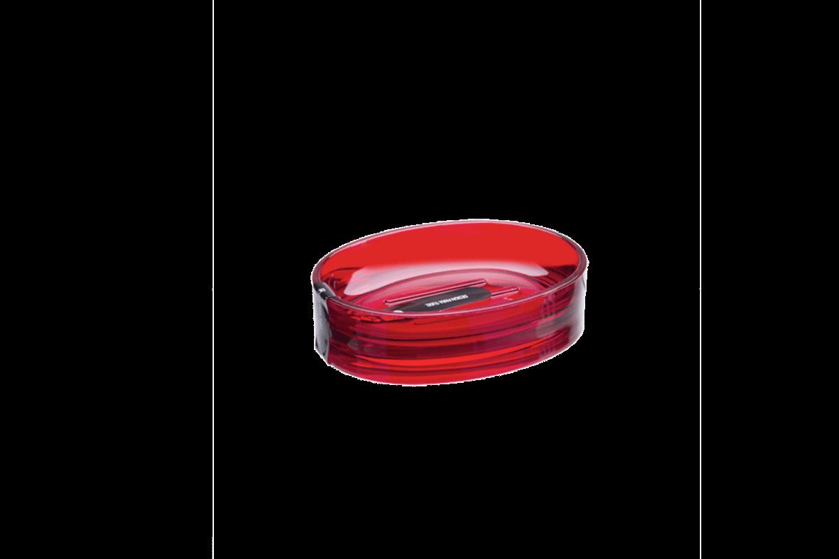 Saboneteira - Spoom 11,5 X 8,9 X 3 Cm Vermelho Transparente Coza
