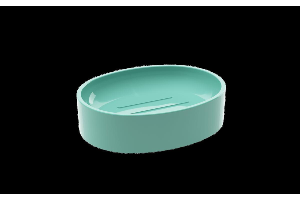 Saboneteira Spoom - VDE 11,5 X 8,9 X 3 Cm Verde Elétrico Coza