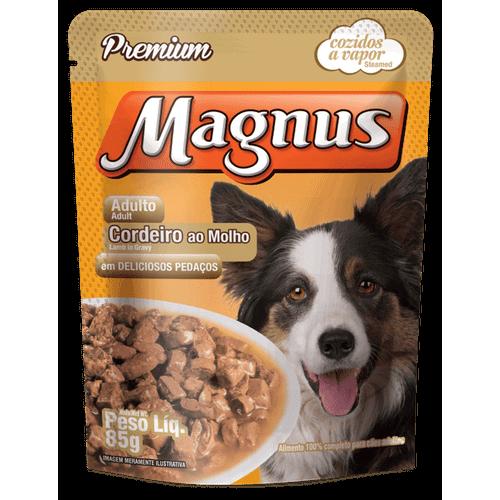 Sachê Magnus Premium Cordeiro ao Molho para Cães Adultos 85g