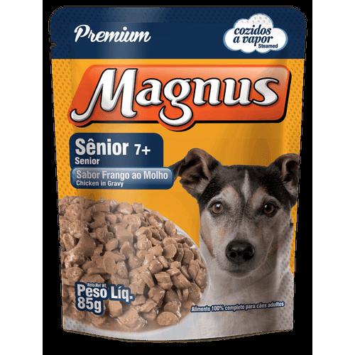 Sachê Magnus Premium Frango ao Molho para Cães Adultos 7+ 85g