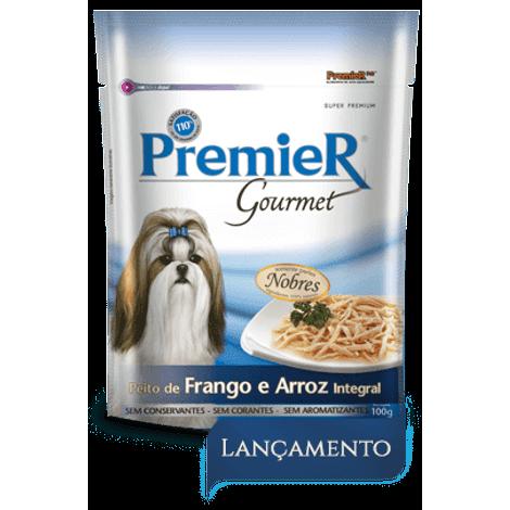 Sachê Premier Gourmet Cães Adultos Frango e Arroz 100g 100 Gramas