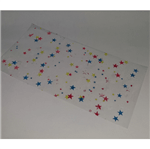 Saco Celofane Estrelas Coloridas 15 X 30 Saco de Celofane Estampado Estrelas Coloridas 15cm X 30cm - 50 Unidades