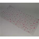 Saco Celofane Estrelas Rosas 15 X 30 Saco de Celofane Estampado Estrelas Rosas 15cm X 30cm - 50 Unidades