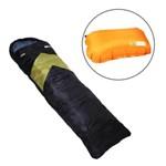 Saco de Dormir Térmico Até 5°c Nautika Viper Verde com Travesseiro Inflável Looper