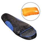 Saco de Dormir Térmico Até -7°c Nautika Antartik Azul com Travesseiro Inflável Looper