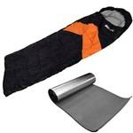 Saco de Dormir Viper Laranja e Isolante Térmico Aluminizado Nautika