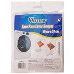 Saco para Lavar Roupas Delicadas com Zíper 40cm X 29cm Western Lr-01