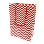 Sacola Cartonada 21,5x15x8cm Vermelha Sacola Cartonada 21,5x15x8cm Zig Zag Vermelho - 10 Unidades