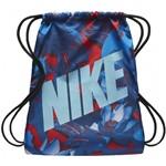 SACOLA NIKE GRAPHIC GYMSACK - Azul/Vermelho - Compre Agora | Radan Esportes