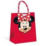 Sacola P/presente C/fecho Minnie Disney Vermelho C/ 10