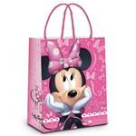 Sacola P/presente Minnie Disney Rosa 32x26,5cm C/10