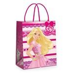 Sacola P/presente Papel Barbie Rosa 14x13cm C/10