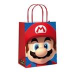 Sacola P/presente Papel Super Mario Vermelho 21,5x15cm C/10