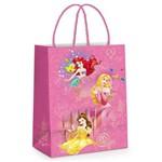 Sacola P/presente Princesas Disney Rosa 26x19,5cm C/10