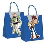 Sacola Presente C/fecho Toy Story Disney Azul 26x19,5cm C/10