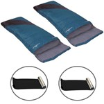 2 Sacos de Dormir Liberty Azul e Preto + Isolantes Térmicos E.v.a. Aluminizado - Nautika