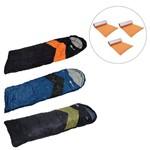 3 Sacos de Dormir Tipo Envelope e Sarcófago Nautika + Isolantes Térmicos Azteq