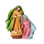 Sagrada Família de Resina Color - 12 X 13 Cm