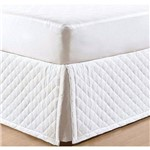 Saia Box Casal Matelassada Jolitex com Elástico 1,38x1,88x0,35m Branco