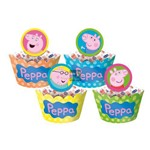 Saia de Cupcake Wrapper Peppa Pig C/12