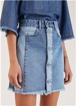 Saia Jeans Avesso e Direito Jeans 38