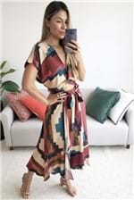 Saia Midi Dress To Estampa Nazca - Multicolorido