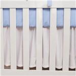 Saia para Berço Teddy Lovely Azul Bebê
