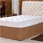Saia para Cama Box - Soft Touch - Queen / Café - 158x198x32