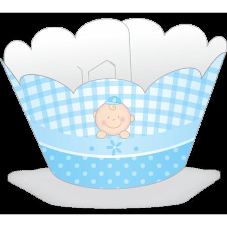 Saia para Cupcake Baby Menino - 12 Unidades
