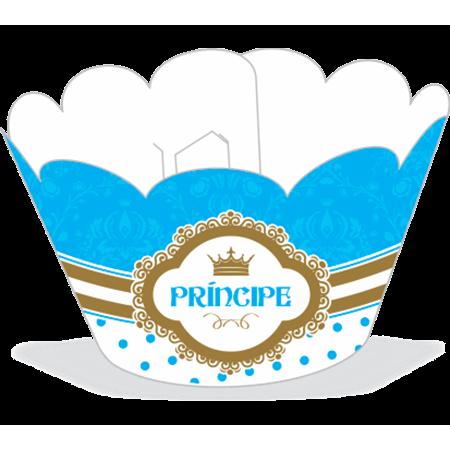 Saia para Cupcake Príncipe - 12 Unidades